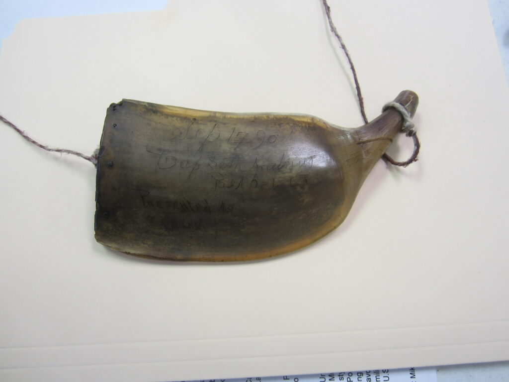 signed powder horn