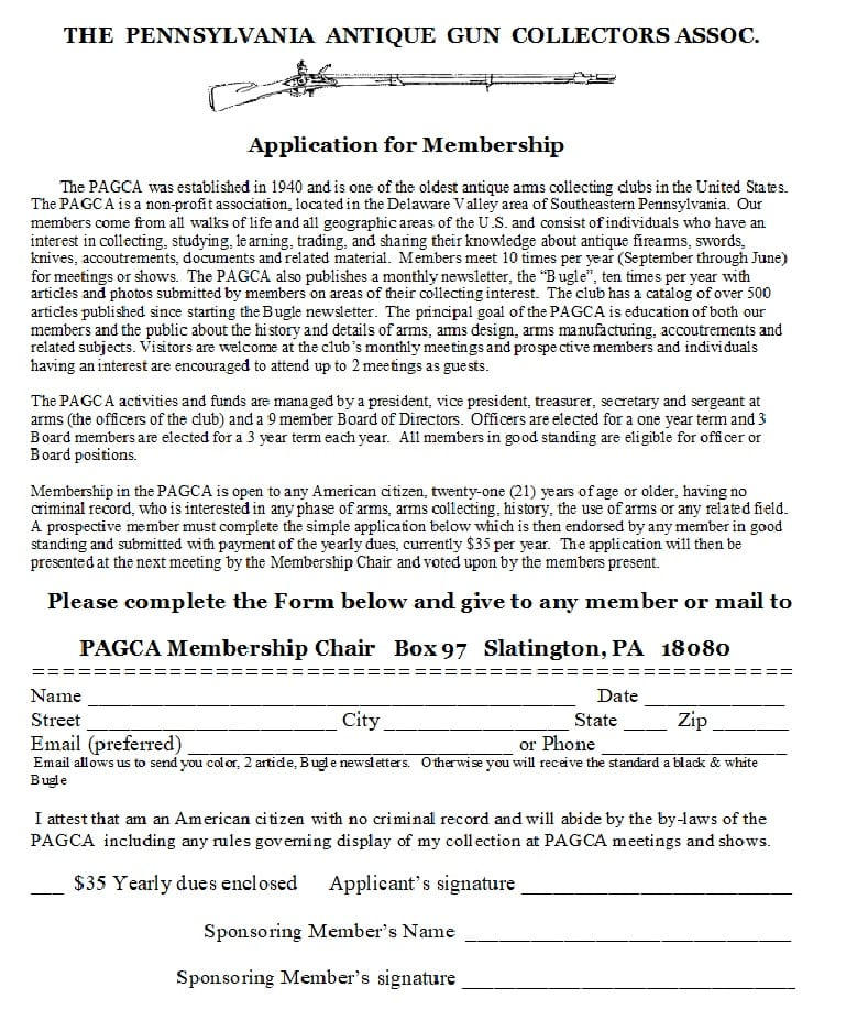PAGCA Membership Application (1)